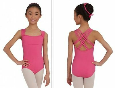 NEW Girls Leotard Child Int 6 7 Capezio Strappy Dance Ballet Gymnastics Pink