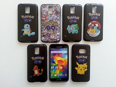 For Samsung Galaxy S5 S6 S7 Case Cute Pokemon GO Print Soft TPU Back Cover