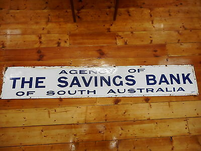 Savings Bank Of South Australia Double Sided Enamel Sign ..  Simpsons