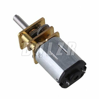 Metal DC12v GA12-N20 Silver Mini 400RPM Speed Gear Electric Motor Gearwheel