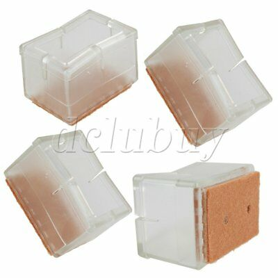 8 x Chair Leg Caps Rubber Feet Protector Pads Furniture Table Covers 50x35mm