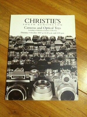 Christie's London Cameras and Optical Toys auction catalog October 1997