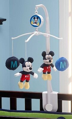 "Disney Baby Mickey Mouse ""M"" is for Mickey Nursery Decorative Musical Mobile"