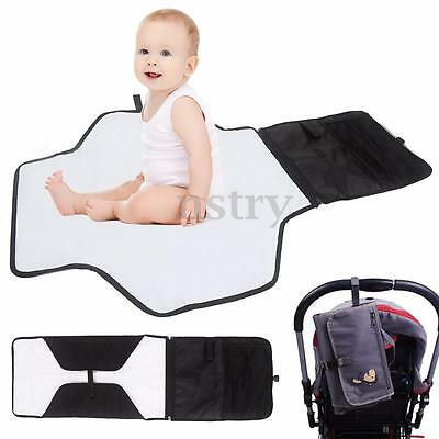 Portable Foldable Baby Kid Changing Mat Pad Cover Change Nappy Bag Travel Pocket