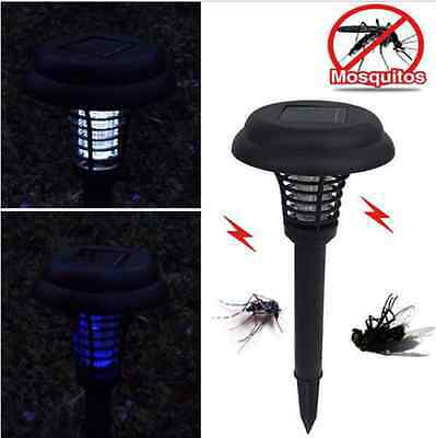 LED Solar Powered Outdoor Garden Park Anti-Mosquito Insect Fly Lamps Light