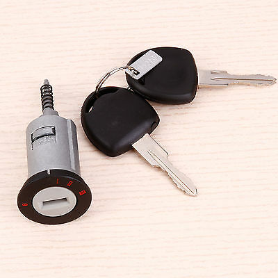 Car Ignition Lock Barrel For Vauxhall Astra Corsa Zafira Meriva Tigra 2 Keys