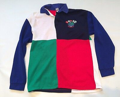 Mens Vtg 80s Rugby Jersey Size M World Cup England VTG