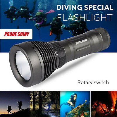 5000LM XM-L T6 LED 6 Modes Underwater 500M Diving Flashlight Waterproof Torch