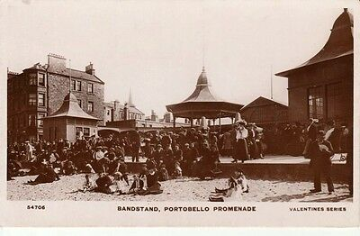 RP Early PORTOBELLO Promenade - Bandstand, buildings, crowds of people