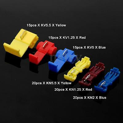 96Pcs Yellow/Red/Blue Electrical Fast Quick Splice Wire Terminal Cable Connector