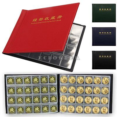 60/120 Holders Storage Collecting Money Coin Collection Penny Album Book Folder