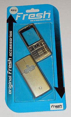 Sony Ericsson K610 - Silver & Grey Front and Back Cover / Fascia , NEW ,bargain