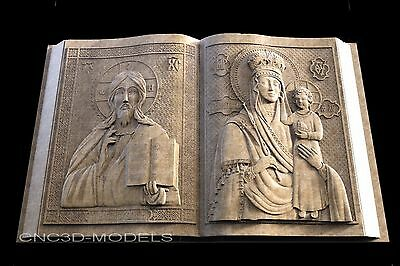3D STL Models for CNC Router Engraver Carving Artcam Aspire Religion 1448
