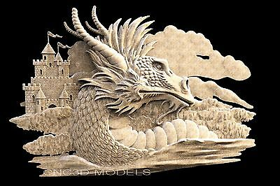 3D STL Models for CNC Router Engraver Carving Artcam Aspire Dragon 1470