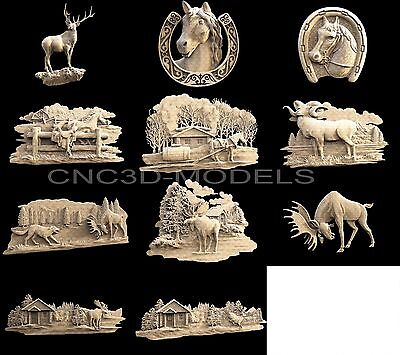 3D STL Models for CNC Router Artcam Aspire Collection Deer Animal Hart Buck 1472