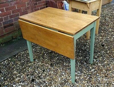 Antique drop leaf pine table shabby chic