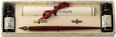 Coles Calligraphy Wood Pen with 3 Nibs and 2 Ink Set