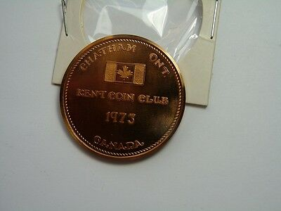 Canada Chathan Ontarion  Kent Coin Club  1973  10 Anniversary T21