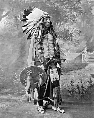 Native American Indian CHIEF TURNING BEAR 8x10 Photo Sioux Tribe Print Poster