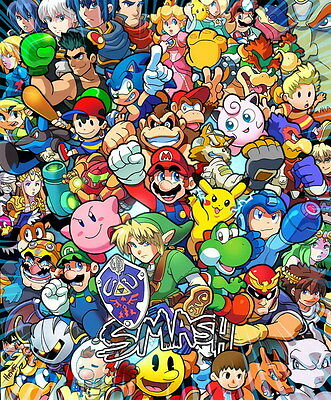 "2090 Hot Video Game - Super Smash Bros 14""x16"" Poster"