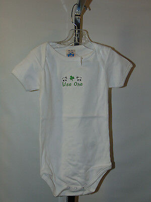 New Embroidered Onesie Sheep And Shamrock Wee One 18-24 Months