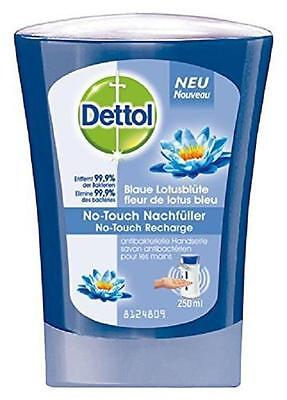 ** DETTOL NO TOUCH REFILL BLUE LOTUS FLOWER HYGIENIC HAND WASH 250ml NEW ** SOAP