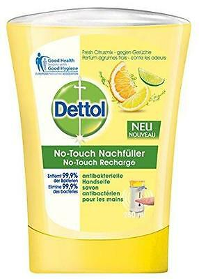 ** DETTOL NO TOUCH REFILL CITRUS HYGIENIC HAND WASH 250ml NEW ** SOAP