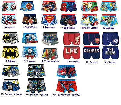 Boys Official Character Underwear, Boxer Trunks 4-10 years