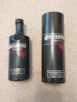 BROCKMANS GIN empty BOTTLE 70cl - boxed