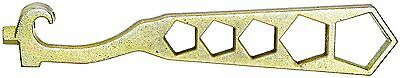 Dixon Valve PHW Plated Iron Fire Equipment, 5 Hole Hydrant Wrench, 14-1/4 Length