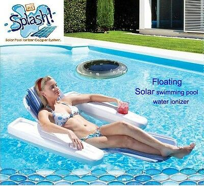 Blue Sea Floating Solar Powered Ionizer Water Disinfection System White