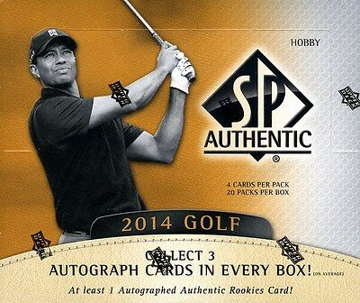 2014 Upper Deck Sp Authentic Golf Hobby 12 Box Case Blowout Cards