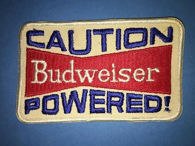 Rare 1970's Caution Budweiser Powered Beer Collectible Jacket Biker Vest Patch C