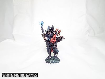 """Fantasy Pewter Wizard Painted 5"""" inches tall display rpg dungeons and dragons"""