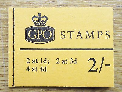 2/- Stitched Stamp Booklet N32p March 1968 (Wilding)