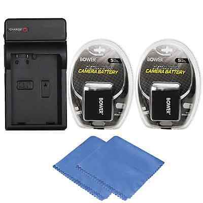 2x LP-E10 Battery + Charger for Canon EOS Rebel T3, T5, T6 DSLR Camera