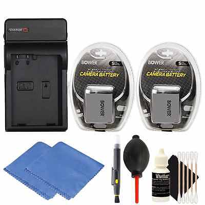 2x LP-E8 Battery + Charger Kit for Canon EOS 550D,700D, T5i T2i DSLR Cameras