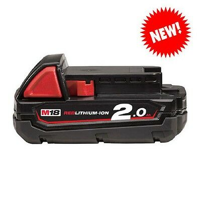 Milwaukee M18B2 18 Volt 2.0AH Red Lithium-ion Battery