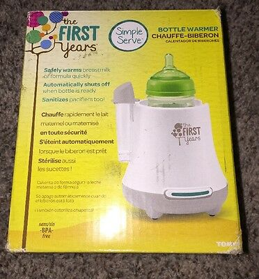 The First Years Baby Pro Bottle Warmer Safely Warms Breastmilk or Formula New
