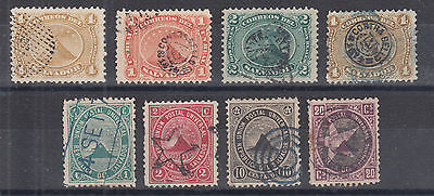 Salvador Sc 4a//17 used 1873-1879 issues, 8 diff used singles
