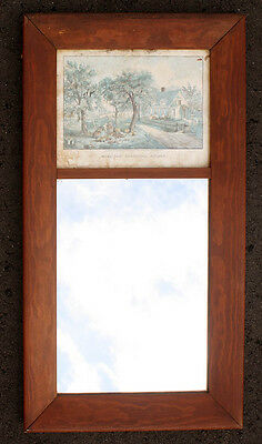 """16""""x30 Vintage Antique Wood Wooden Hanging Wall Mirror Glass Picture Photo Frame"""