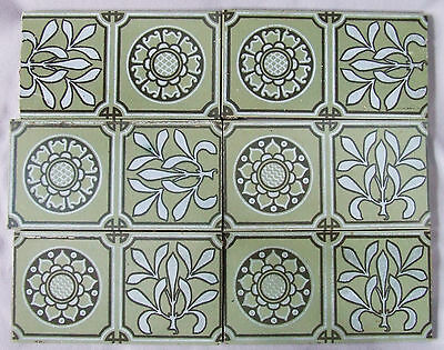 6 Maw English Aesthetic Movement Ceramic Tiles Arts and Crafts Transferware