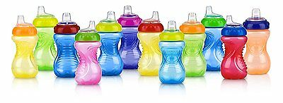 Nuby 2-Pack No-Spill Easy Grip Cup, 10 Ounce, Colors May Vary