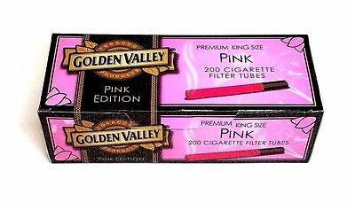 Golden Valley Pink Edition King Size Cigarette Tubes (box) 200 Filter Tubes RYO