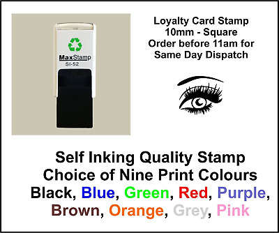 Eye Loyalty Card Stamp Professional Quality Self Inking 10mm FREE POST
