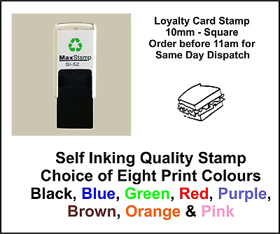 Sandwich Loyalty Card Stamp Professional Quality Self Inking 10mm FREE POST