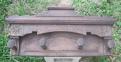 Antique Rustic Reclaimed Wood Coat hat rack Primitive country Salvage Hook