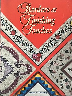 Borders And Finishing Touches Quilting Book Bonnie Browning
