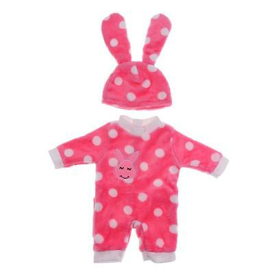 Pink White Dot Jumpsuit Set Clothes Fit for 43/45cm Zapf Baby Born Dolls