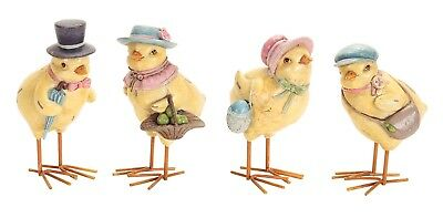 Easter Chick Family Set of 4 Spring Tabletop Figures